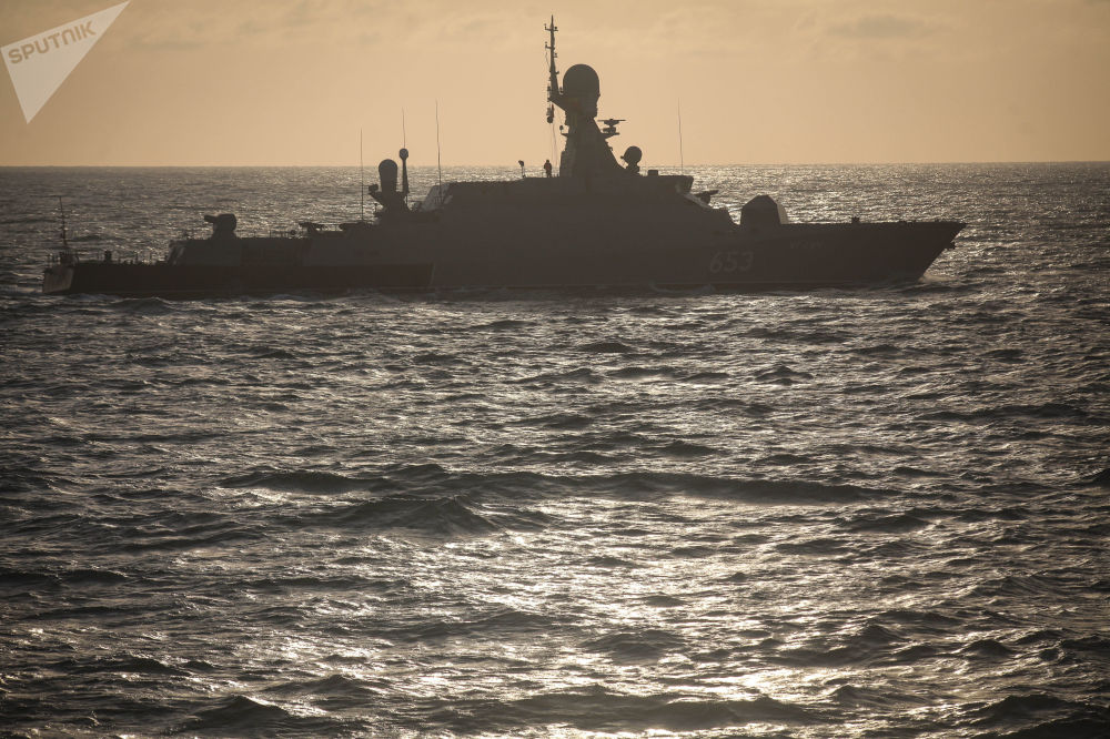 Les exercices russes en mer Caspienne