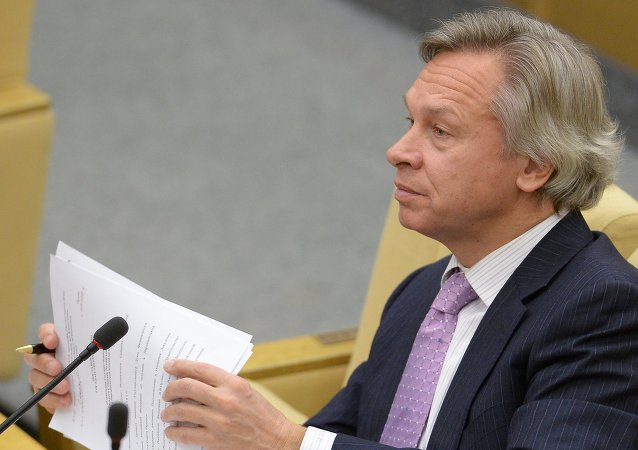 Alexei Pushkov, Chairman of the State Duma's International Affairs Committee