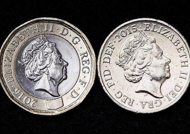 L'ancienne pièce d'une livre sterling retirée de la circulation au Royaume-Uni