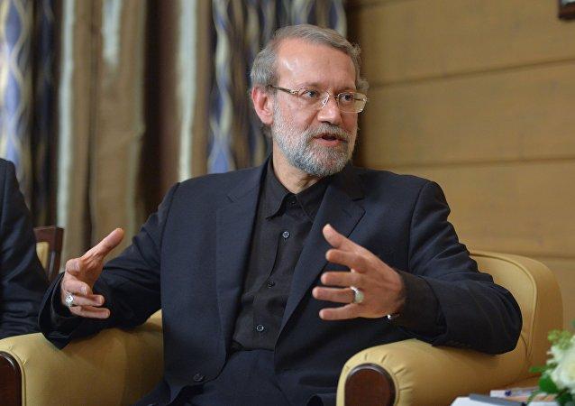 Le président du parlement iranien Ali Larijani