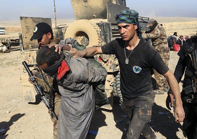 Arrestation d'un terroriste en Irak. Archive photo