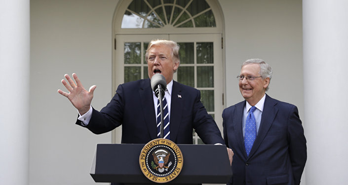 Donalt Trump devant la Maison-Blanche