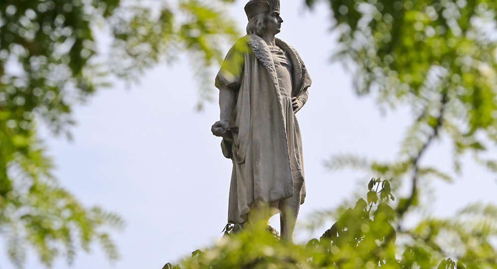 La statue de Christophe Colomb à Manhattan
