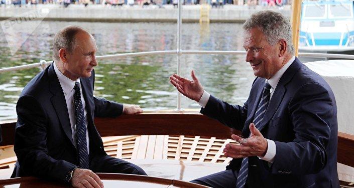 Vladimir Poutine et Sauli Niinistö