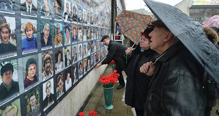 Памятные мероприятия у Театрального центра на Дубровке