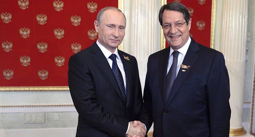 Vladimir Poutine et Nicos Anastasiadis