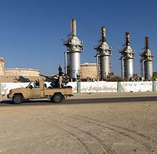 Un terminal de pétrole en Libye