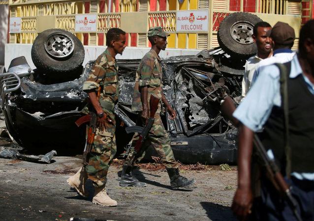 Explosion à Mogadiscio, image d'archives