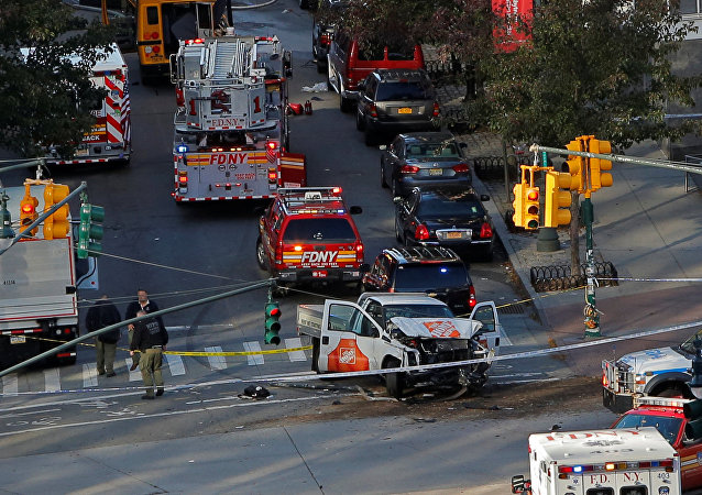 Sur les lieux de l'attaque terroriste de New York
