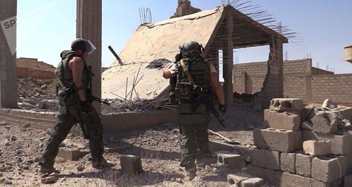 Militaires russes à Deir ez-Zor
