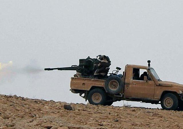 Des terroristes de Daech près de Palmyre