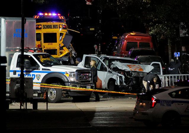 La police enquête sur l'attaque au camion organisée à New York