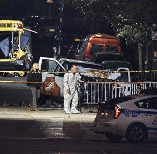 Sur les lieux de l'attaque terroriste du 31 octobre.