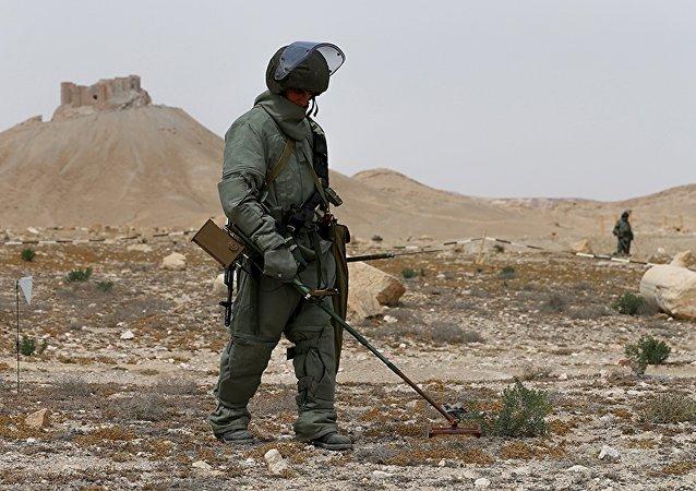 Les sapeurs russes en Syrie (image d'archives)