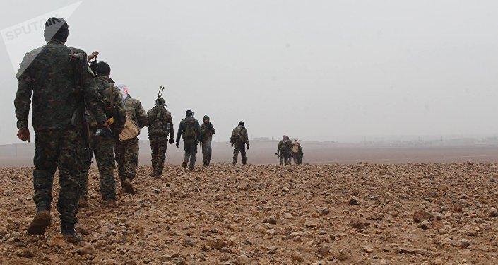 Les Forces démocratiques syriennes à Deir ez-Zor