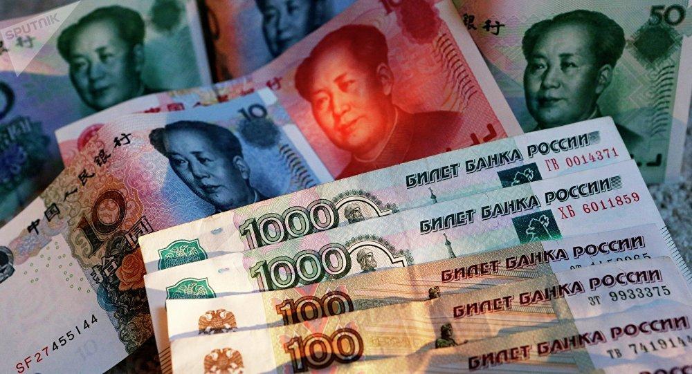Roubles et yuans