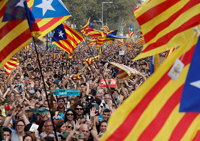 Drapeaux catalans