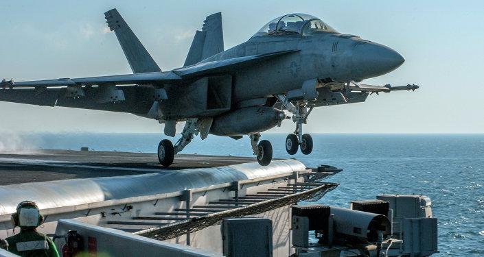 Un avion de la coalition dirigée par les Etats-Unis