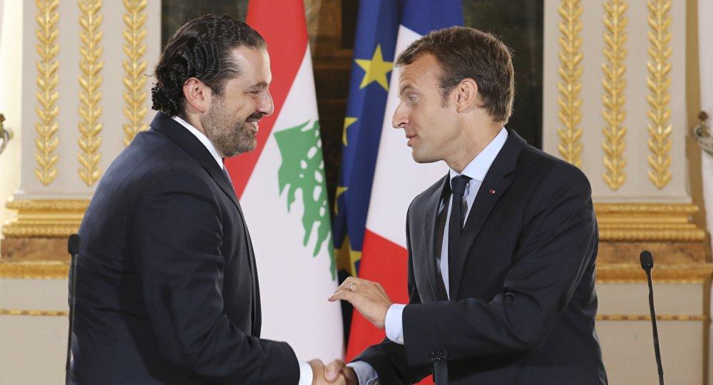 Emmanuel Macron et Saad Hariri
