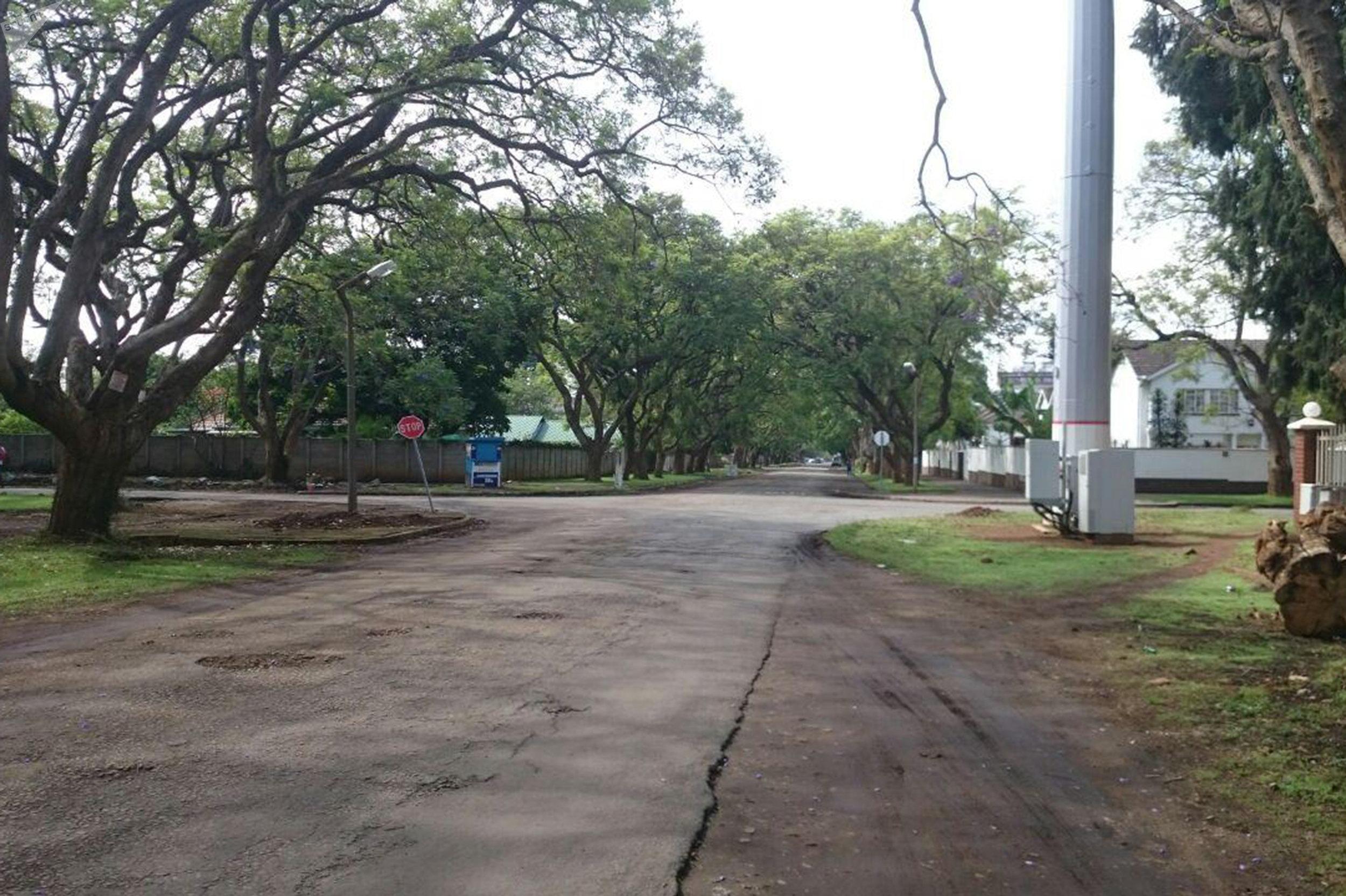 Les rues de Harare après le coup d'État
