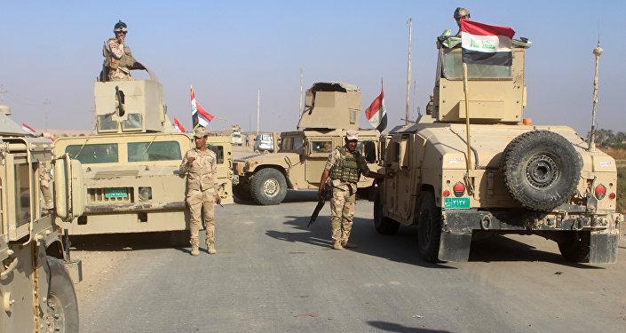 Les forces irakiennes à la veille de la prise de Rawa
