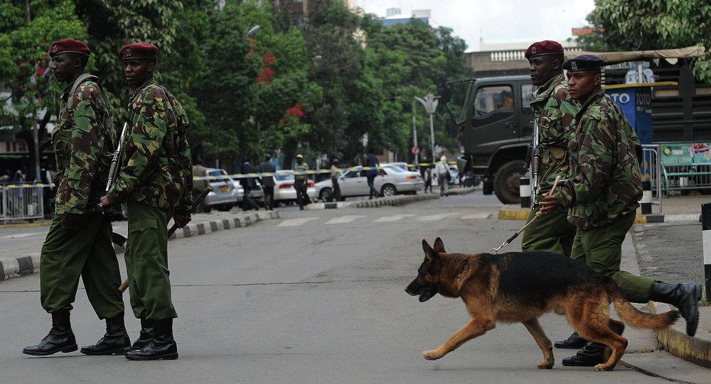 La police kényane à Nairobi