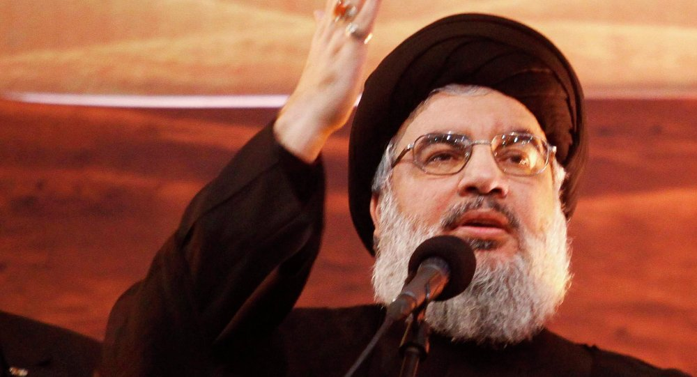 Le leader chiite, Hassan Nasrallah