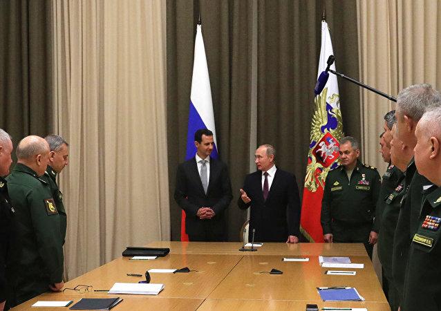 Rencontre Poutine-Assad à Sotchi