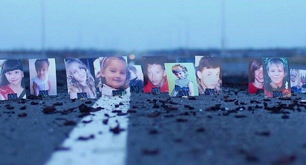 Les portraits d'enfants péris et blessés lors du conflit dans l'Est ukrainien