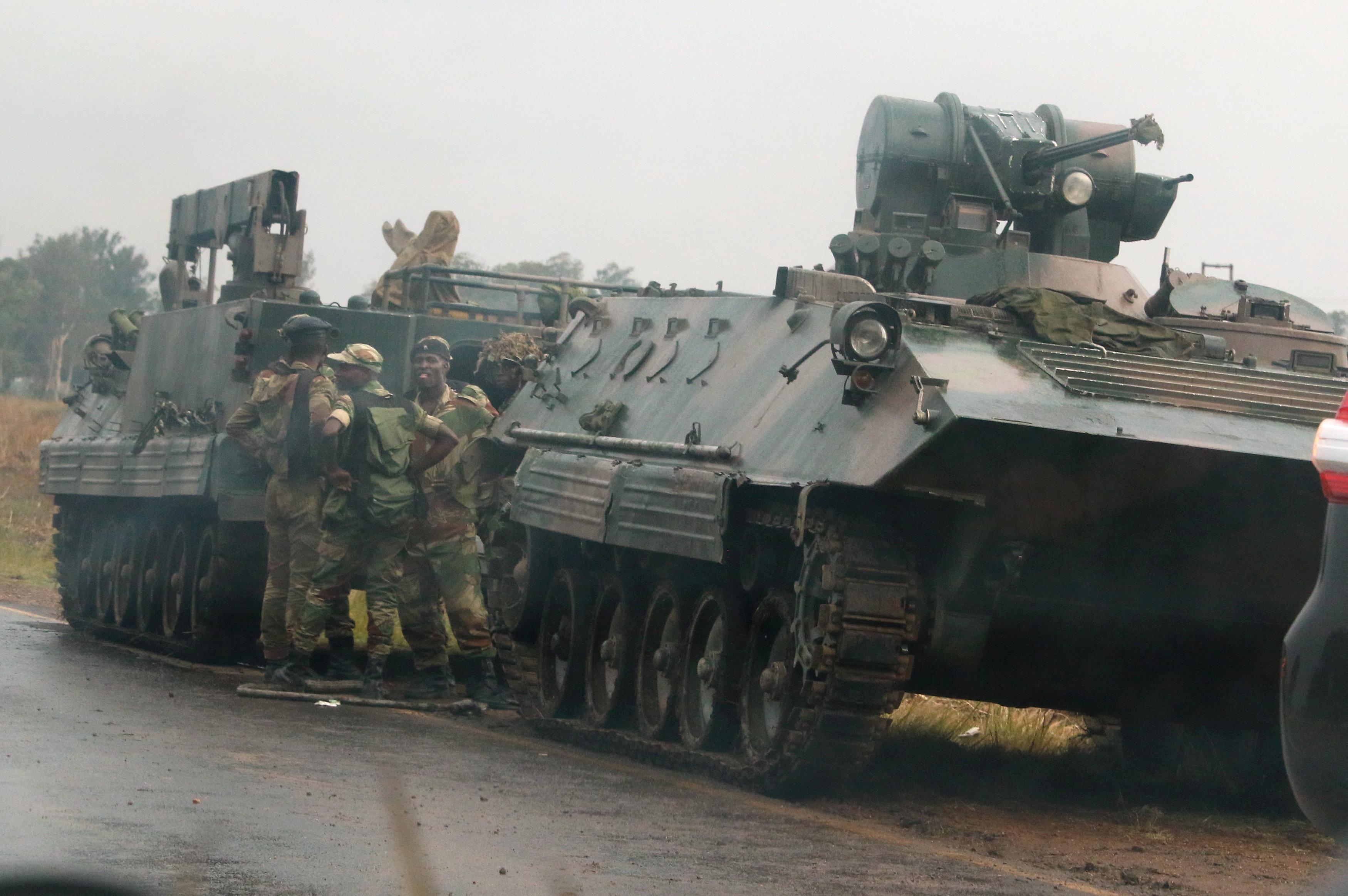Le putsch militaire au Zimbabwe