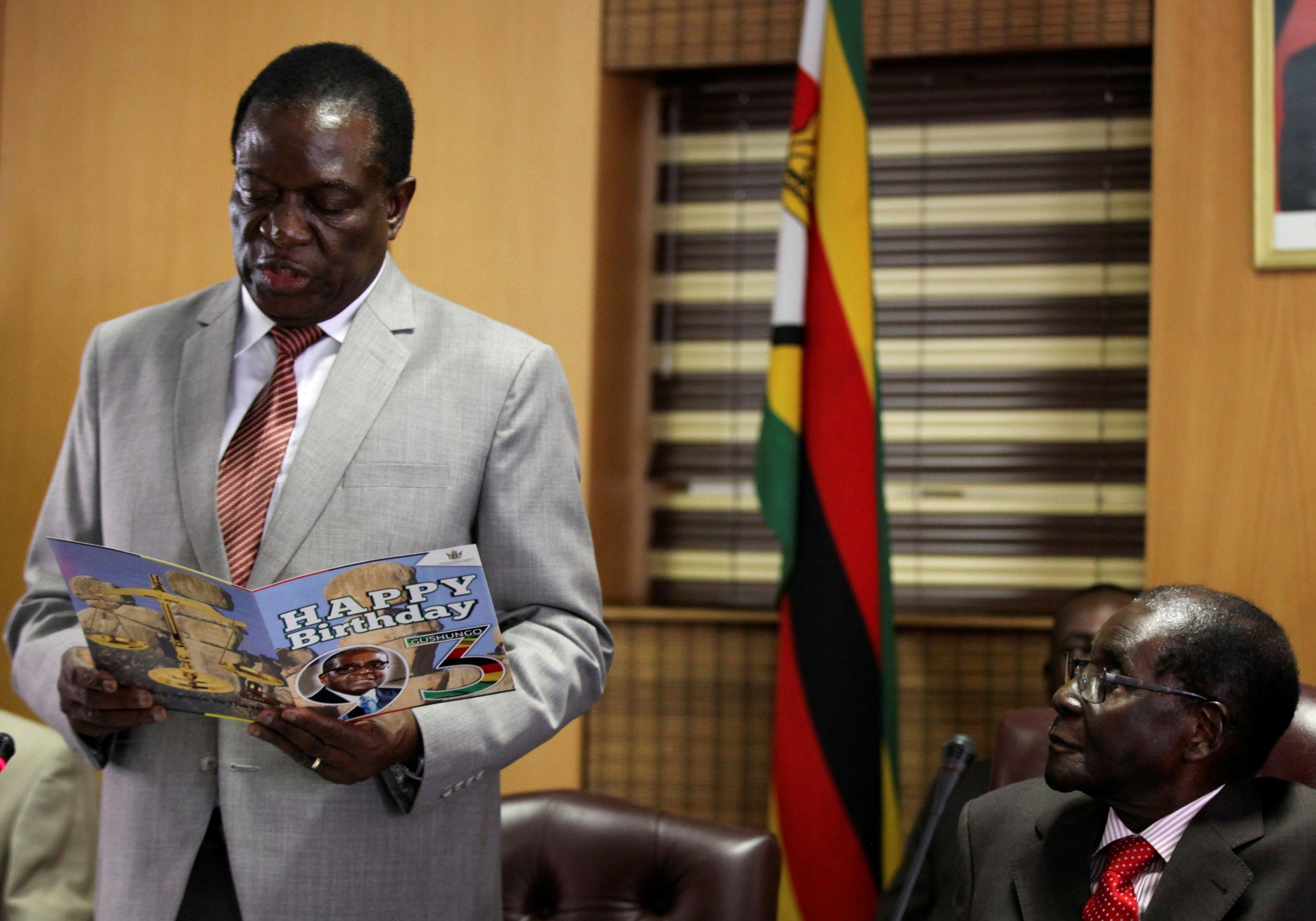 Des félicitations au Président zimbabwéen Robert Mugabé