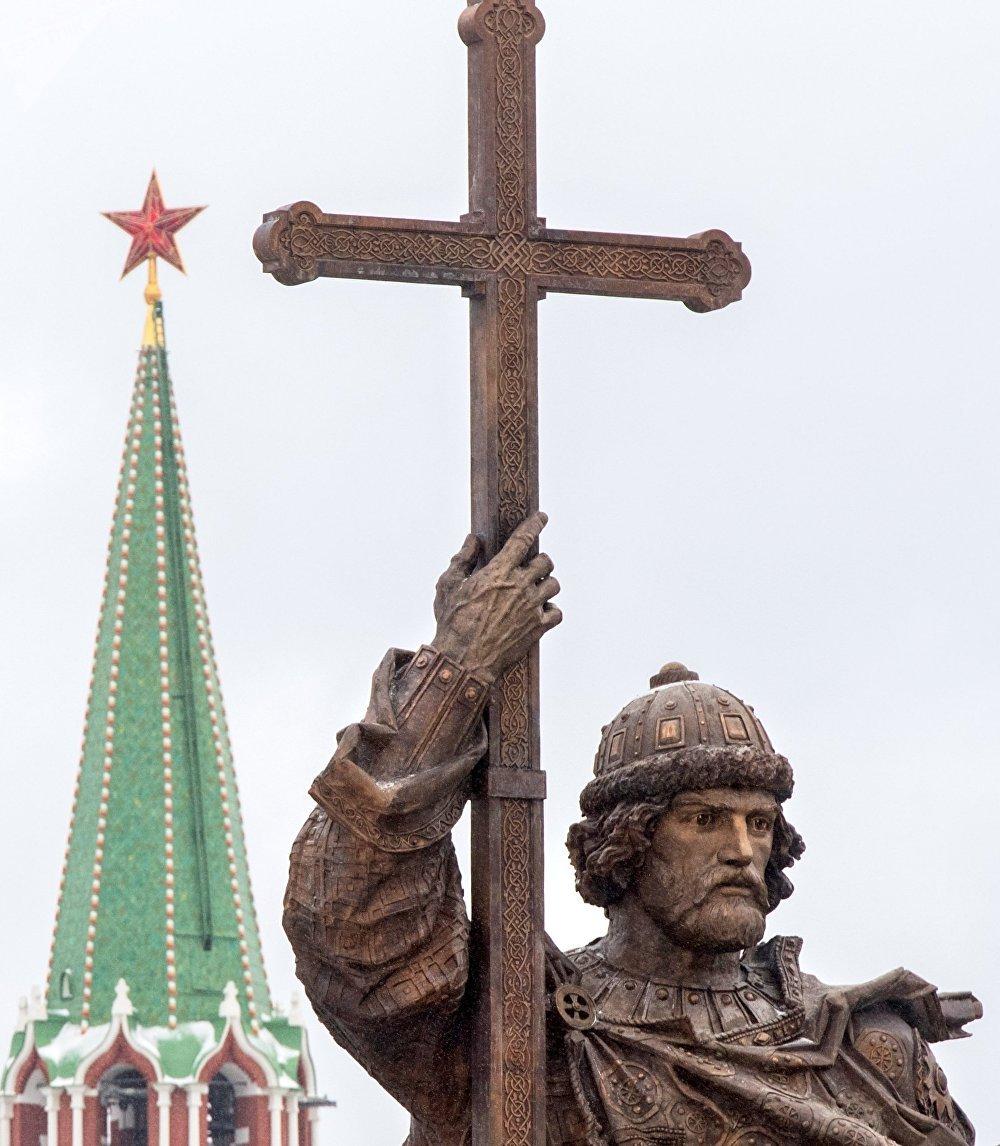 Le monument au grand-prince Vladimir à Moscou