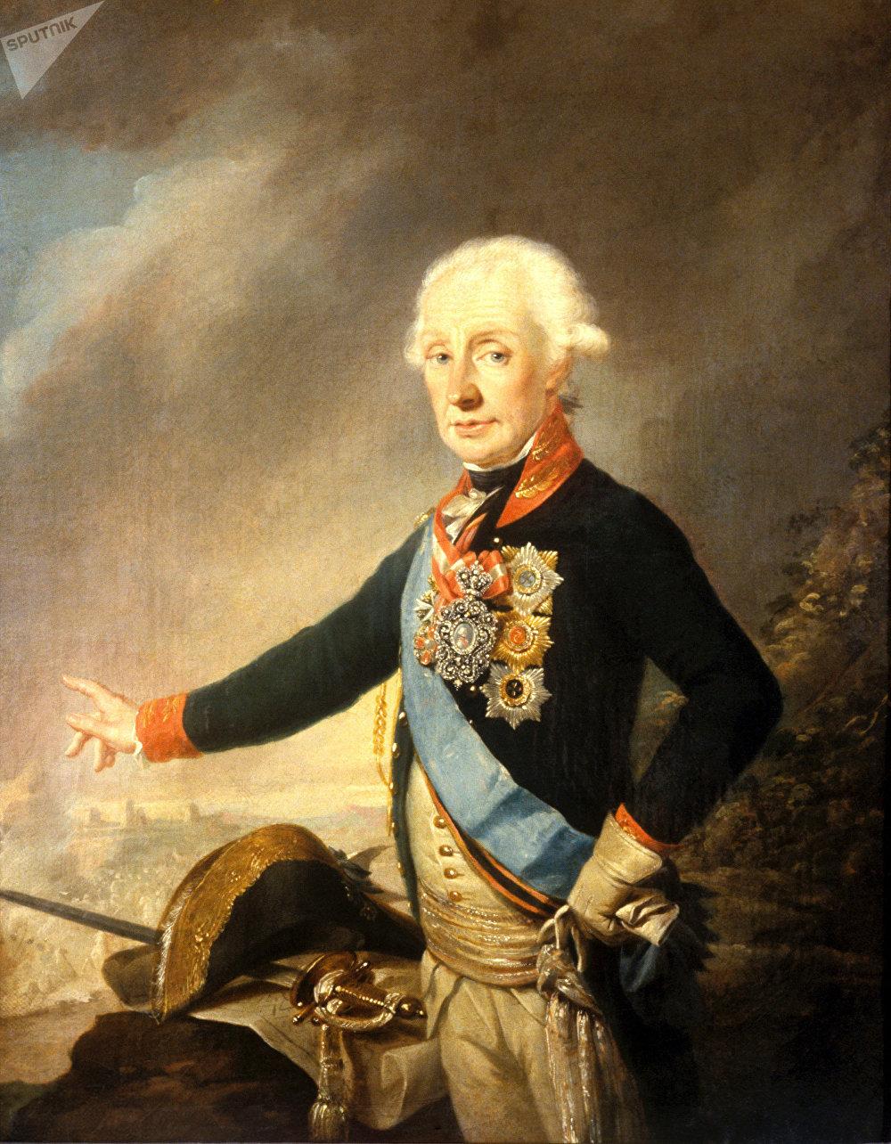 Portrait du généralissime Alexandre Souvorov (reproduction)