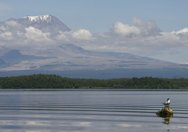 Le volcan Chiveloutch, au Kamtchatka