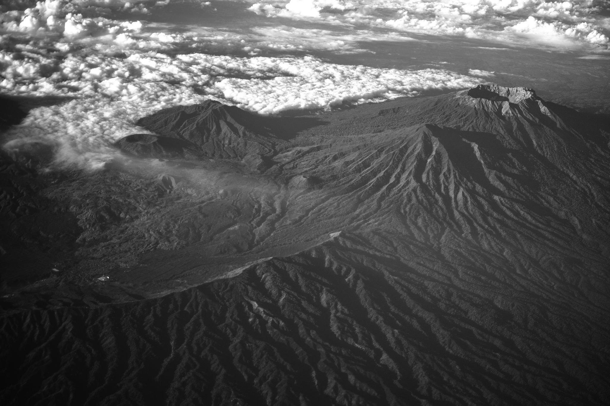 Le volcan Raung, en Indonésie
