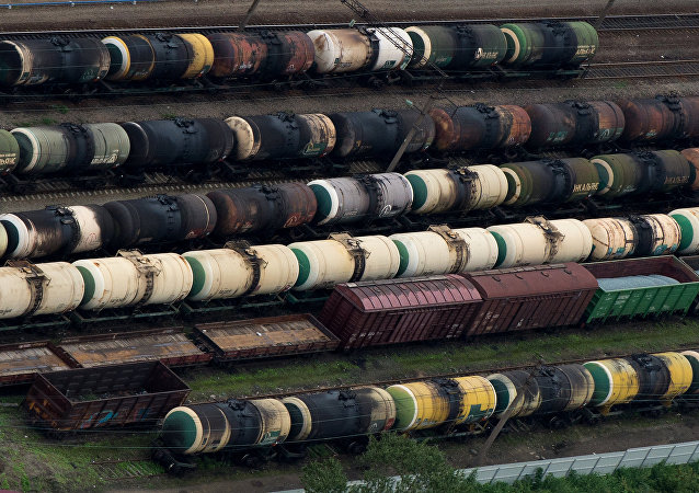 Des trains de marchandises