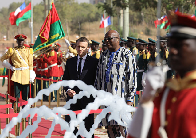Emmanuel Macron au Burkina