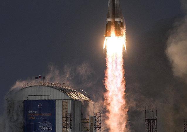 Tir d'une fusée Soyouz-2.1 depuis le cosmodrome de Vostotchny