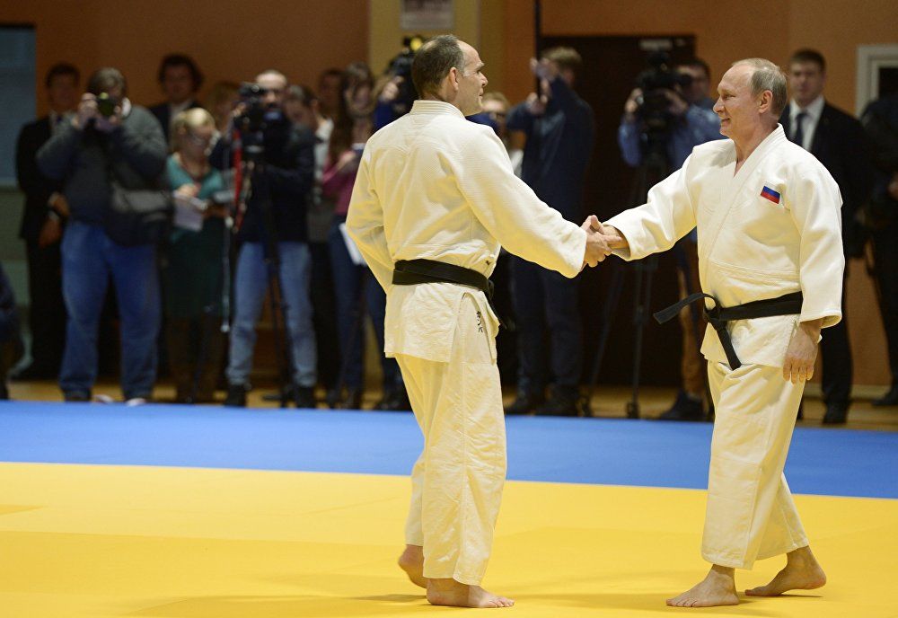 V. Putin met with the Russian judo team