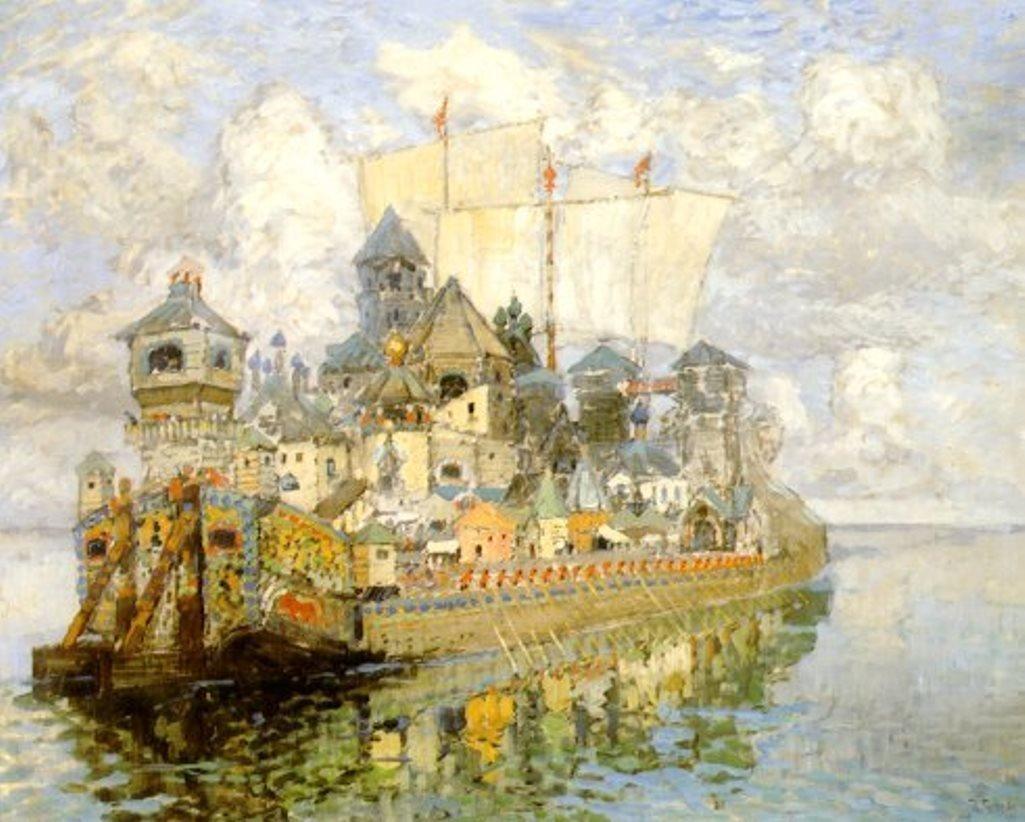 La ville de Kitej, par le peintre Constantin Gorbatov