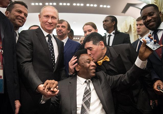 Президент РФ В. Путин принял участие в финальной жеребьёвке ЧМ по футболу ФИФА 2018 в России