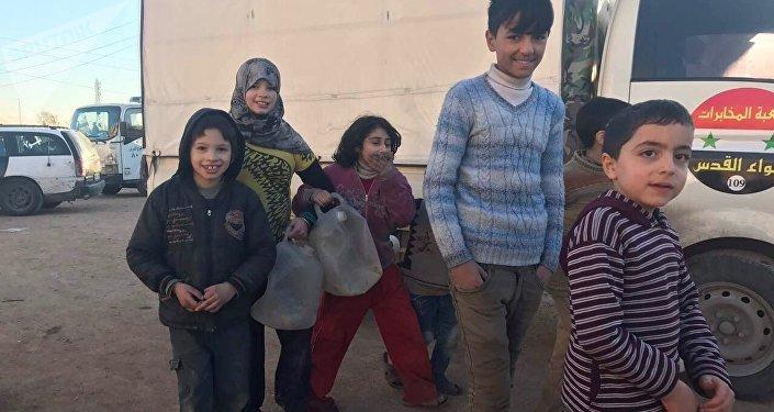 Des enfants d'Alep