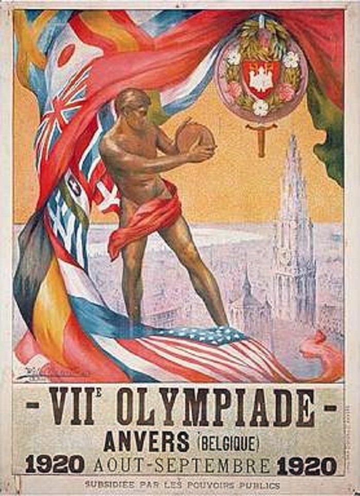 Affiche des Jeux olympiques 1920 d'Anvers