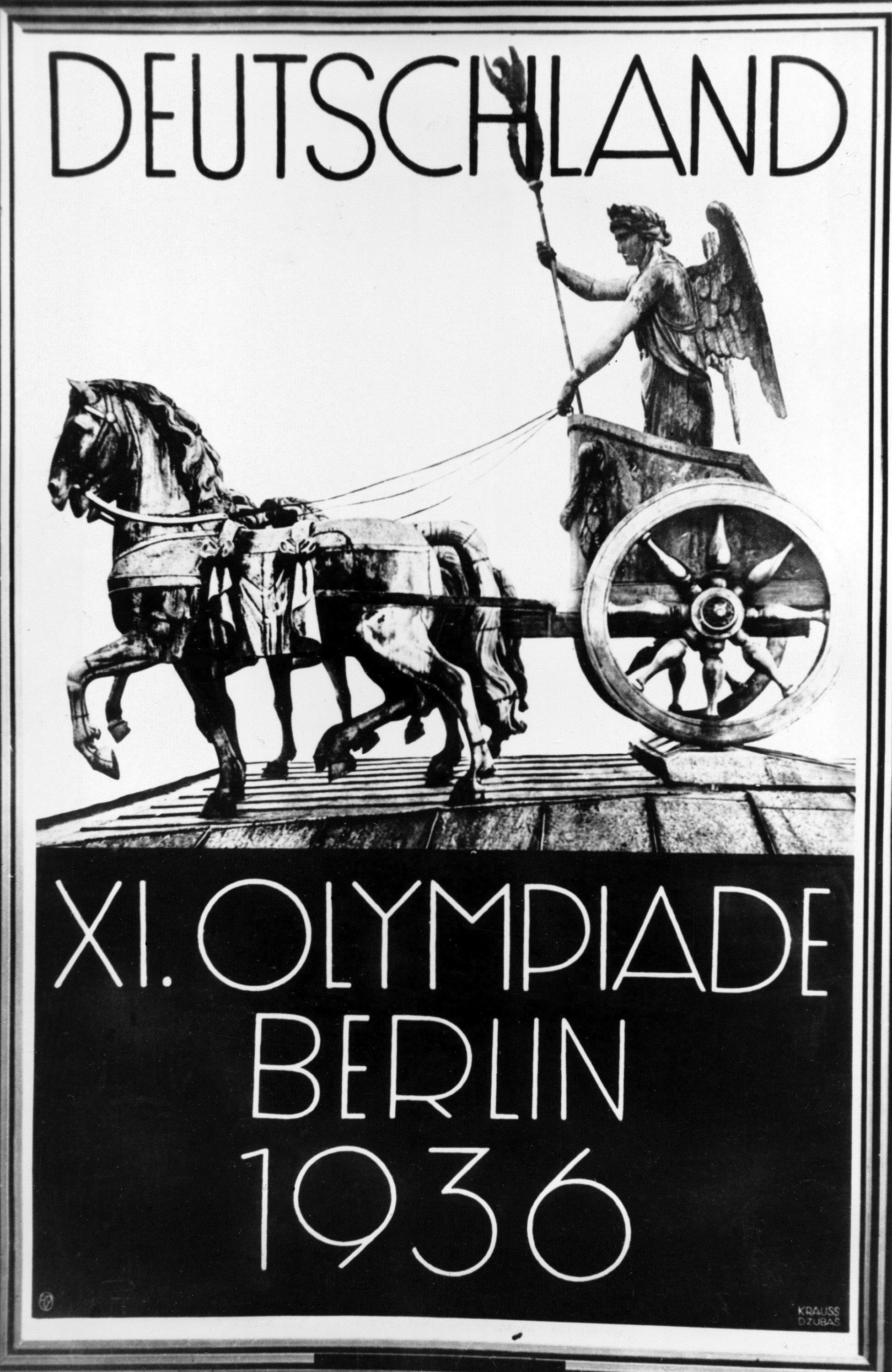 Affiche de 1933 consacrée aux JO 1936 de Berlin