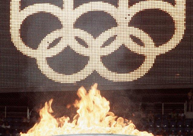 La flamme olympique des JO 1976 de Montréal