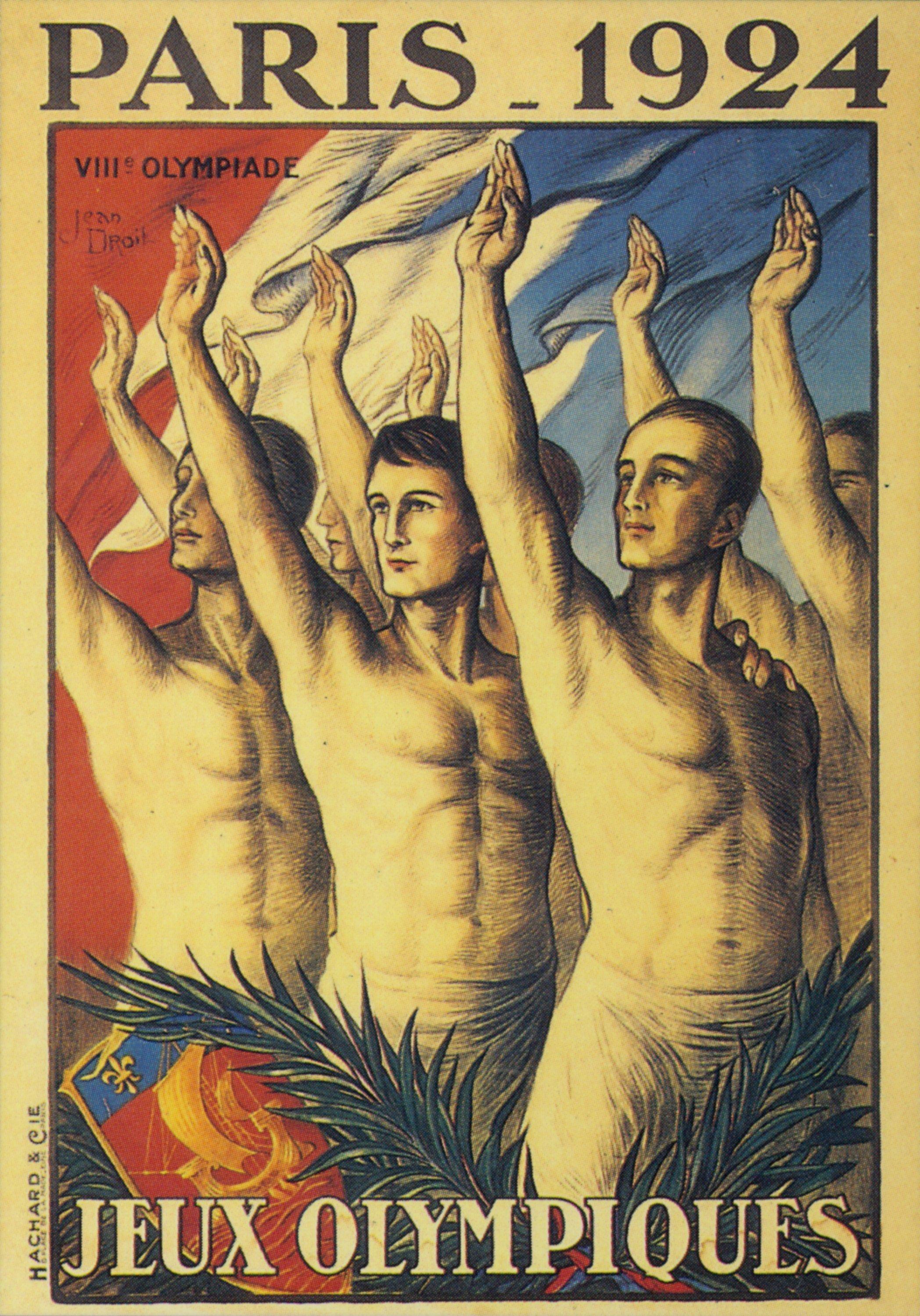 Affiche officielle des JO 1924 de Paris