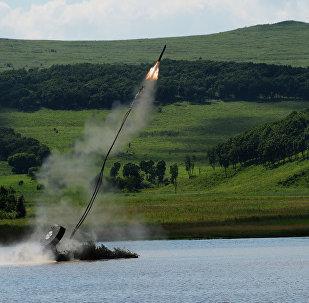 UR-77 lors des exercices militaires