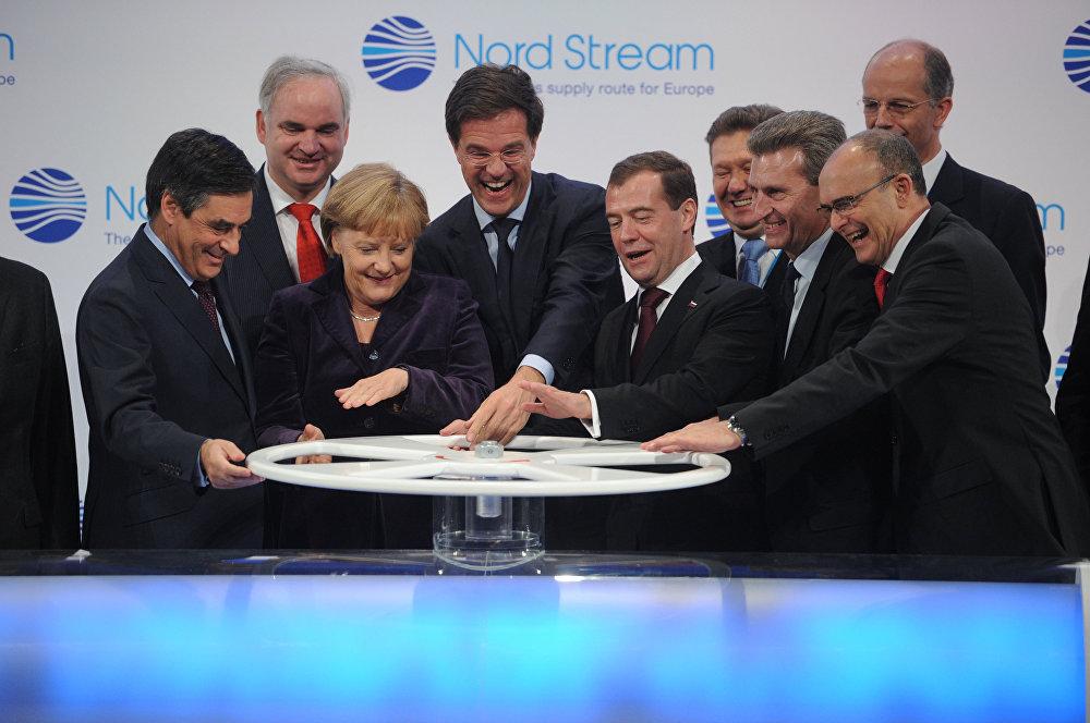 Le lancement de Nord Stream 1, le 8 novembre 2011