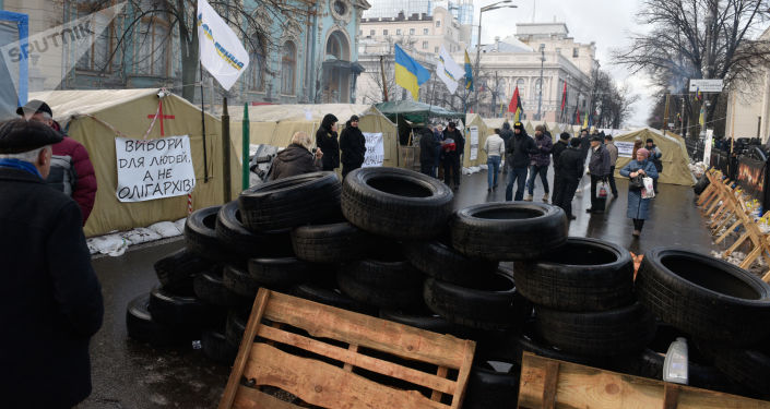 Protestations à Kiev