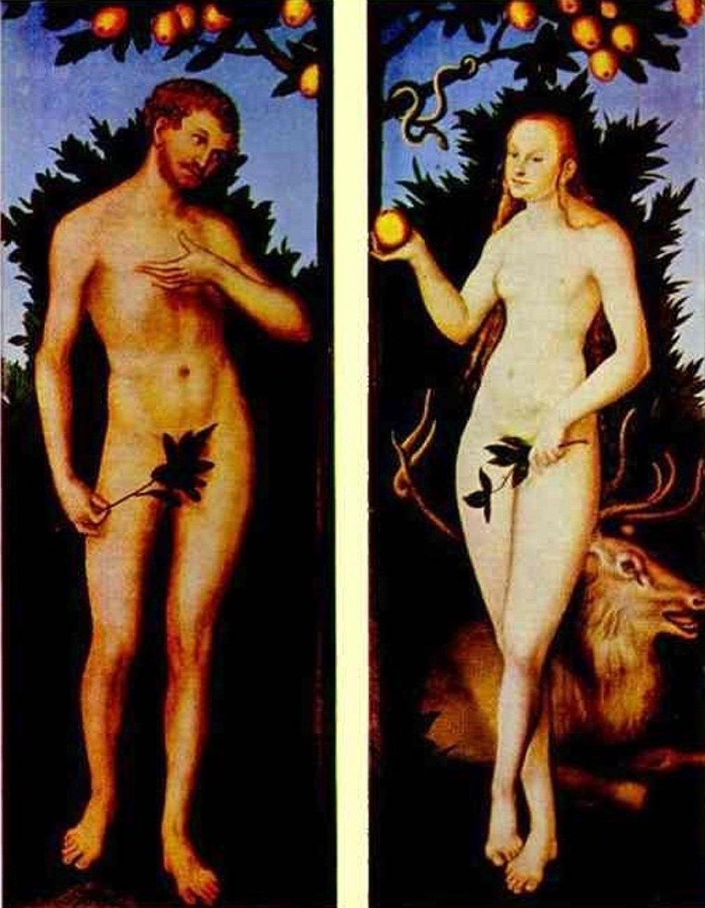 «Adam et Eve» de Lucas Cranach